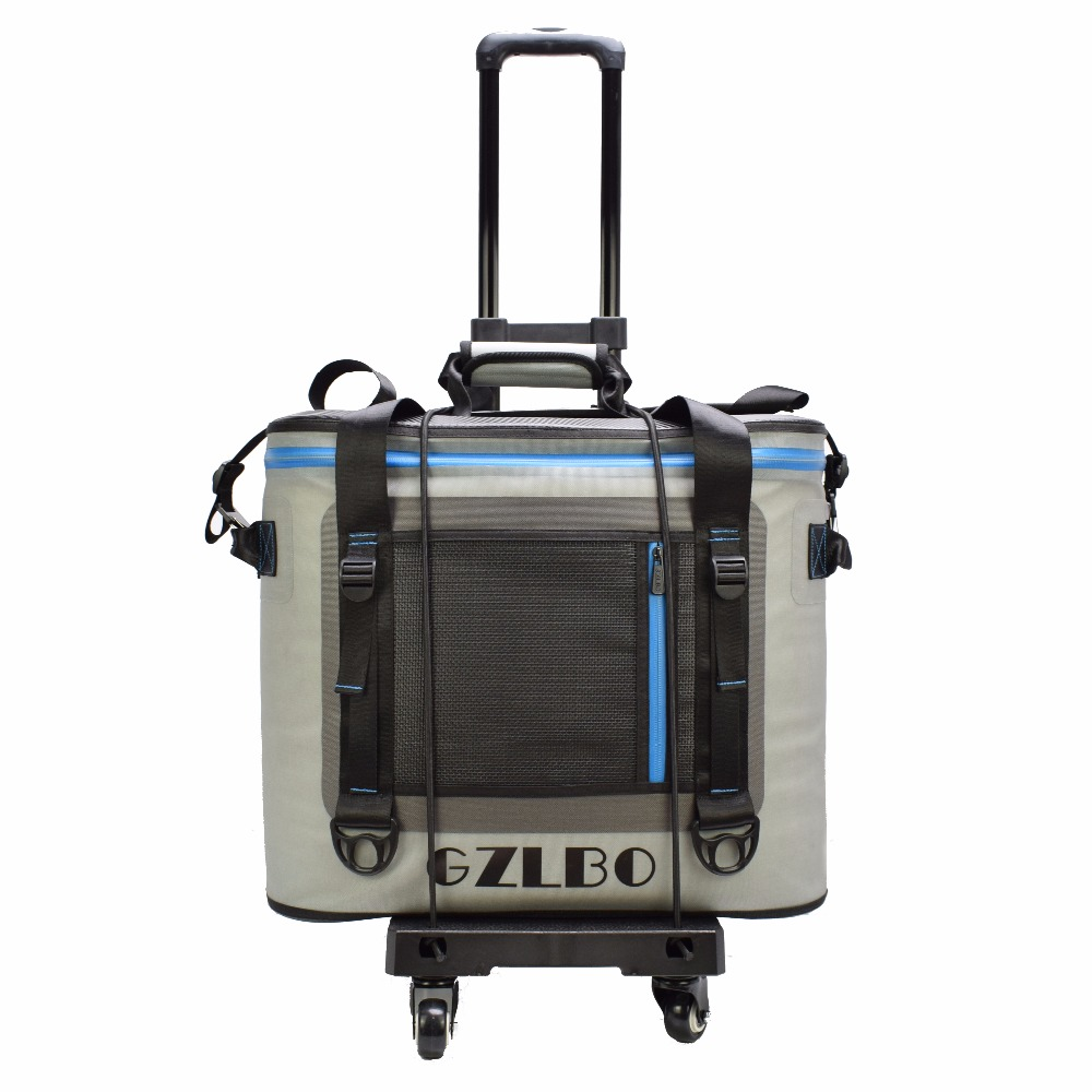 GZLBO Cooler bag 55cans big capacity TPU Trolley Cooler travel waterproof food wine bear picnic trolley ice bag with wheels denim lunch bag kid bento box insulated pack picnic drink food thermal ice cooler leisure accessories supplies product