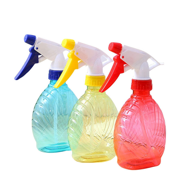 Water Bottle Nozzle: Portable Solid Color Flower Plant Hand Trigger Water Spray