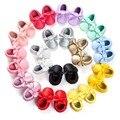 16 Cores Da Marca Primavera Sapatos de Bebê Mocassins de Couro PU Meninos Recém-nascidos Meninas Calçados Primeiro Walkers Do Bebê 0-18 Meses
