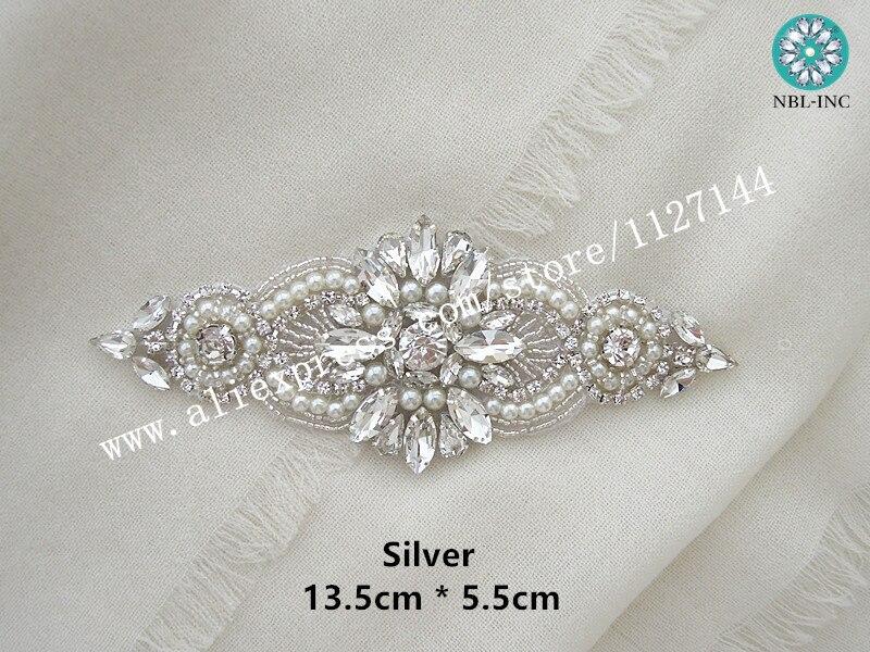 (10PCS) Rhinestone Crystal Applique For Wedding Dresses DIY Iron On WDD0497
