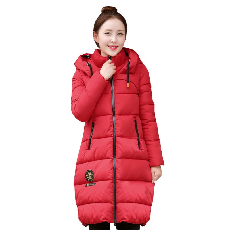 ФОТО 2016 Winter Thickening Parkas Women's Wadded Jacket Outerwear Fashion Cotton-padded Jacket Medium Long Coat Y08
