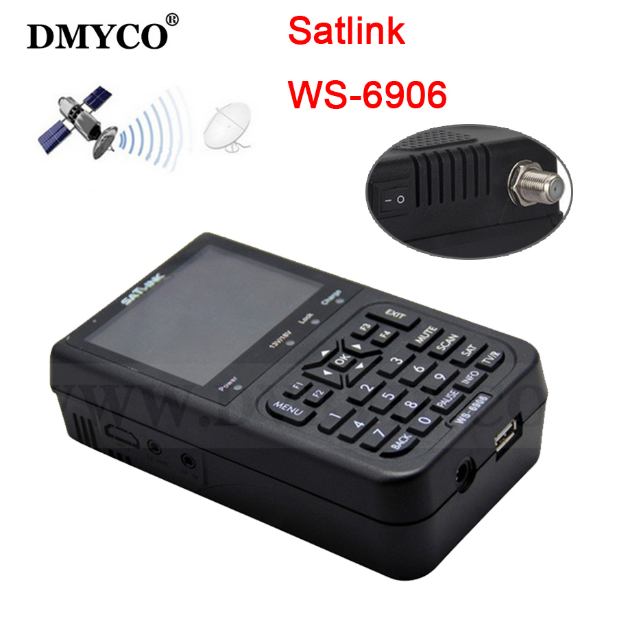 3.5 inch LCD satlink ws6906 satFinder HD DVB-S High Definition Satellite Finder ws-6906 satellite Finder PK Freesat V8 Finder satlink ws 6906 dvb s fta digital satellite signal meter satellite finder supports diseqc 1 0 1 2 qpsk