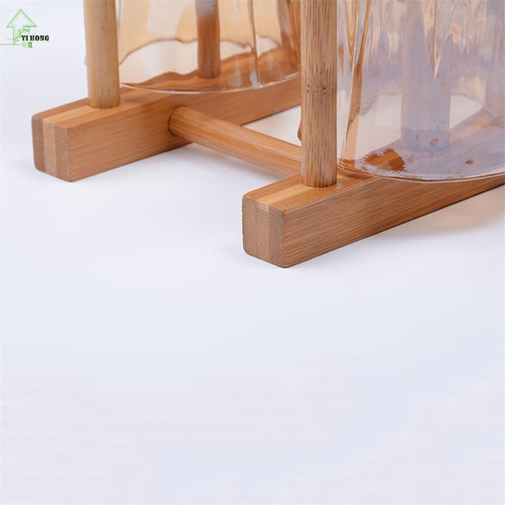 YI HONG dishes drainer racks Bamboo Wood Plate Rack Shelf CD Drainboard Multifunctional kitchen dish Holder-in Storage Holders \u0026 Racks from Home \u0026 Garden on ... & YI HONG dishes drainer racks Bamboo Wood Plate Rack Shelf CD ...