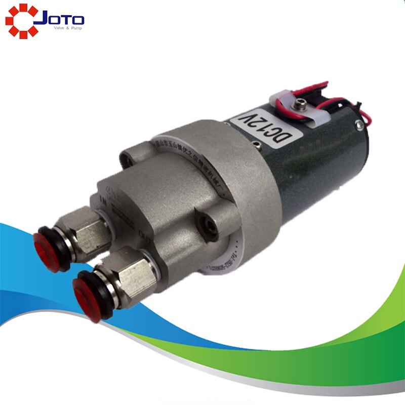 DIY 12V Gear Oil Pump 23W Mrico Gear Oil Transfer Pump triangle oil pump top 10a rop 11a top 12a top 13a trochoid gear pump
