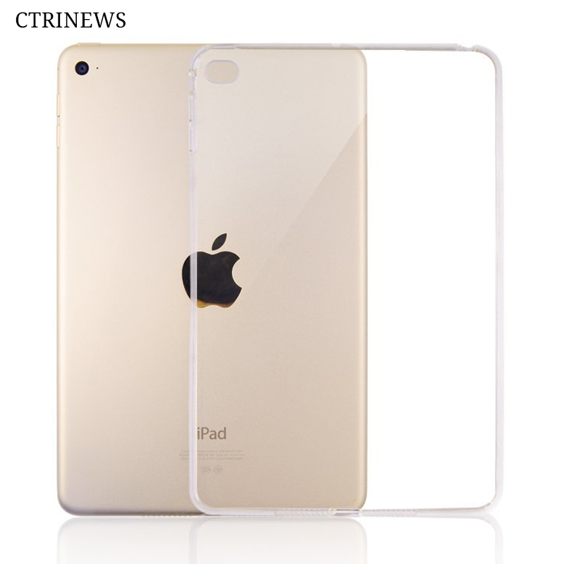 все цены на  Silicone Cover For iPad Air 2 Air 1 Transparent Soft TPU Case For iPad 4 Mini A1822 Pro 10.5 Tablet Crystal Protective Case Capa  онлайн