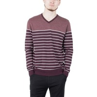 100 Cotton Men S Knitted Pullover Sweater For Spring With Stripe