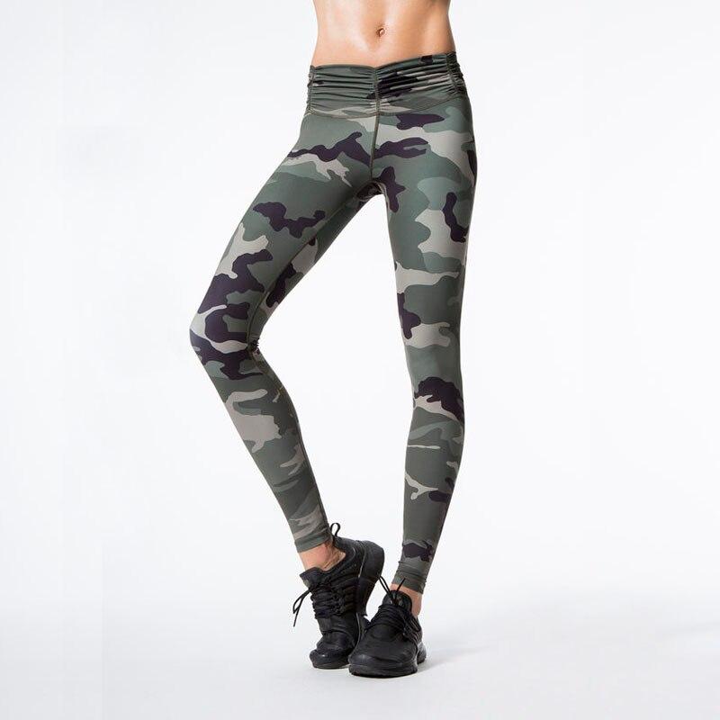 Ny Camouflage Print Kvinder Sporting Leggings High Elastic Workout - Dametøj - Foto 3