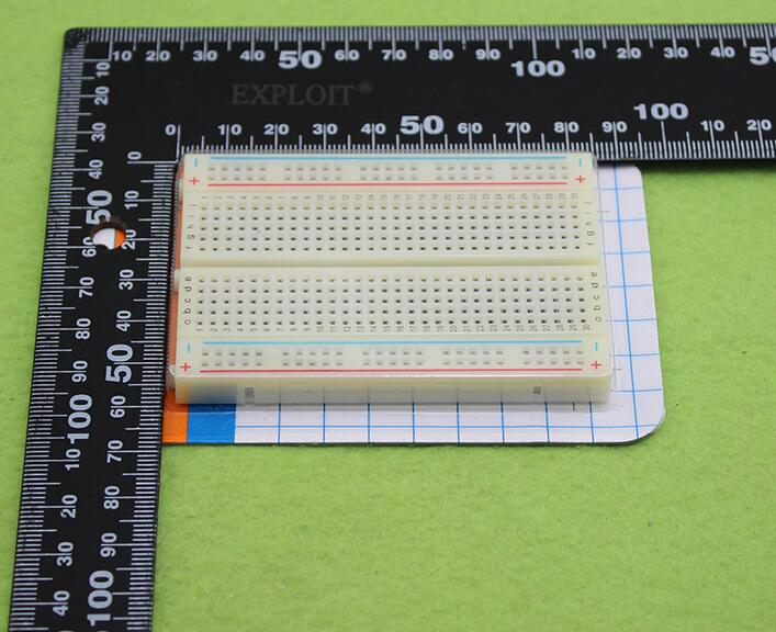 Free Shipping 1pcs DIY 400 Points Solderless Bread Board Breadboard 400 PCB Test Board for ATMEGA