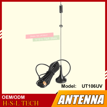 цена на Magnetic HF Antenna Vehicle Mounted Car Antenna 144/430MHz Dual Band SMA/BNC UHF/VHF Suction Dish Two Way Radio Antenna