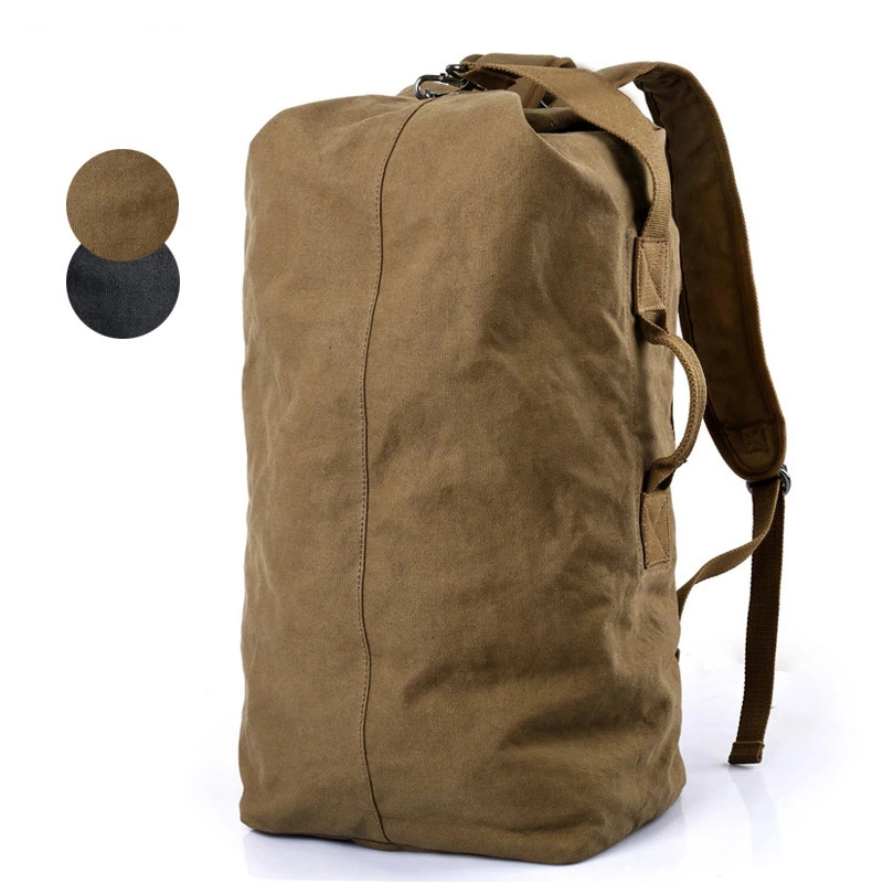Large Capacity Canvas Backpack Men Shoulder Diagonal Multi functional Package Canvas Bag Travel backpack