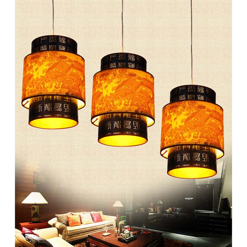 Chinese style Wooden pendant light single-head restaurant lights classical lamps balcony entranceway corridor light ZS80 LU1018 chinese style wooden pendant lamps bedroom pendant light wooden sheepskin pendant light restaurant lamp lighting zs83