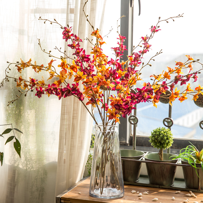 2017 new beautiful artificial flowers silk flowers long branch stand 2017 new beautiful artificial flowers silk flowers long branch stand fake flowers vintage clivia miniata homeholiday decor in artificial dried flowers mightylinksfo