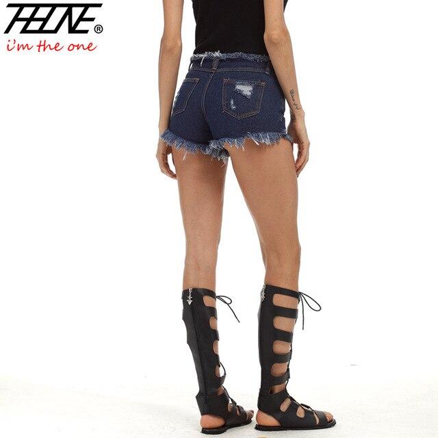 0fc981ee67 THHONE Sexy Denim Shorts Women Summer High Waist Fashion Casual Ripped  Holes Tassel Plus Size 5XL Jeans Hot Shorts Female