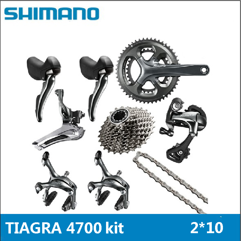 SHIMANO <font><b>TIAGRA</b></font> <font><b>4700</b></font> 2x10 20S Speed <font><b>Groupset</b></font> Bicycle Kit Bicycle Dropper Kit Bicycle Parts Transmission Kit image