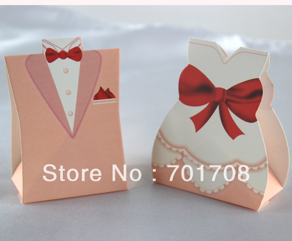 Wedding Gift Bags For Candy : Wholesale Wedding favor boxes gift paper bags candy boxes Bridal Gown ...
