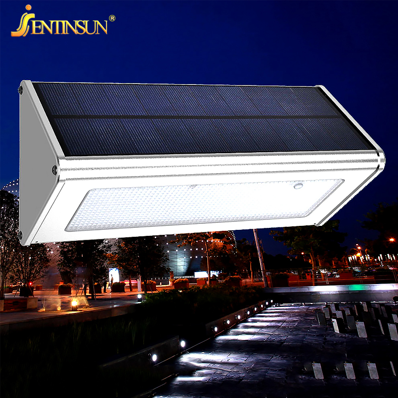 Solar Power Panel Light Outdoor Garden Courtyard Lighting Aluminum Alloy Waterproof LED Wireless Wall Solar Lamp Street Lights