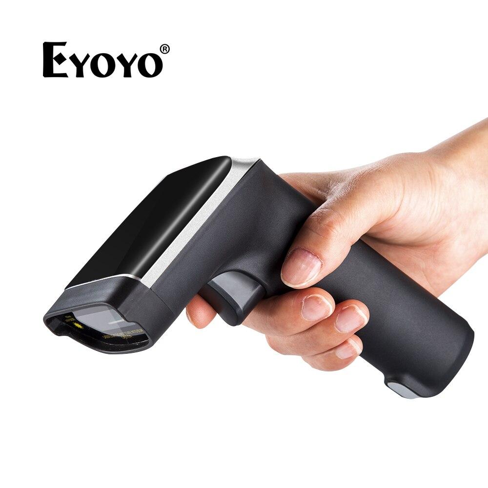 EYOYO EY-007S Беспроводной 1D сканера штриховых кодов 3mil до 60 м лазерный свет USB проводной 2,4 ГГц Беспроводной 1D бар читателя Кода