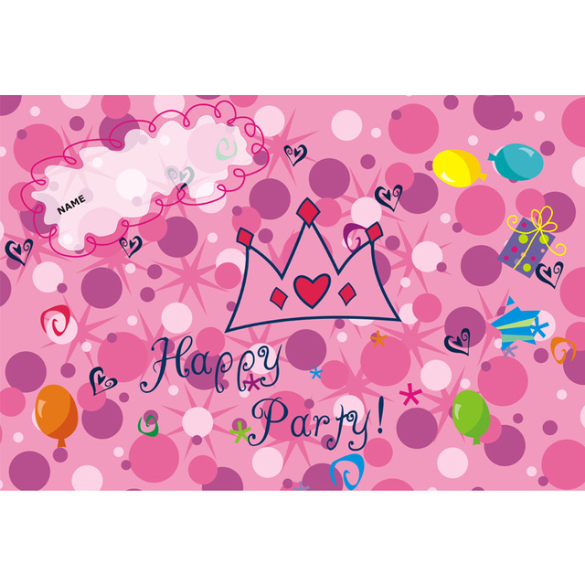 Party Wall Decoration Baby Kids Wallpapers Princess Wallpaper Party Wall  Banner Birthday Wall Decorations Kids Happy
