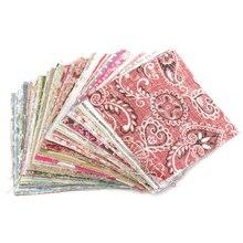 100Pcs 10x10cm Square Floral Cotton Fabric Patchwork Cloth For DIY Craft Sewing 100pcs 10x10cm square floral cotton fabric diy sewing doll quilting patchwork textile cloth bags crafts