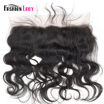 Fashion Lady 100% Human Hair 360 Lace Frontal Closure Indian 13x2 inch front lace Pre-Plucked Hairline With Baby Hair Closure