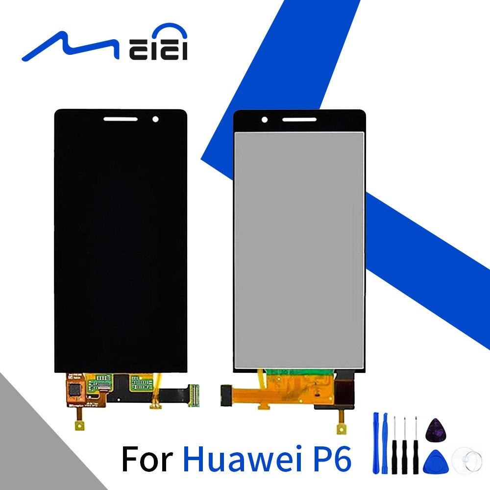 Testado LCD Para HUAWEI Ascend P6 P6S P6 U06 C00 T00 S U06