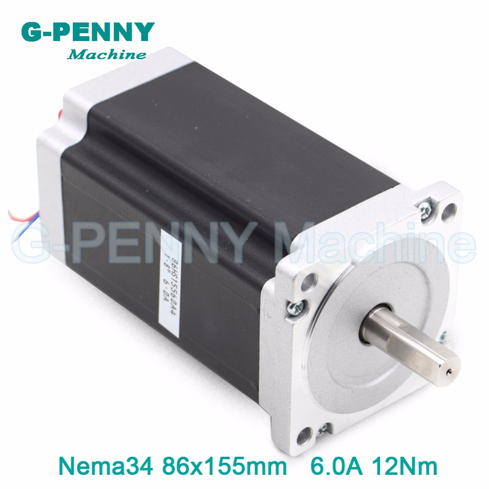 NEMA 34 CNC pas à pas moteur 86X155mm 13 N. m 6A arbre 14mm nema 34 moteur pas à pas 1700Oz-in pour CNC machine de gravure 3D imprimante