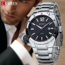 2016 CURREN Hombres Relojes de Lujo Superior de la Marca Correa de Acero Inoxidable Relojes de Pulsera Reloj Deportivo Resistente Al Agua Relogio masculino xfcs