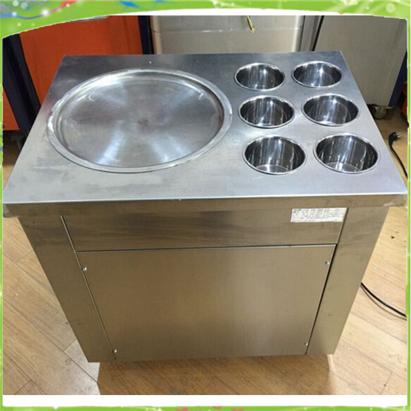 free shipping hot sale 220v  single flat pan fried icecream machine for sale