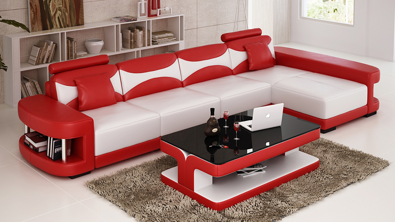2015 Hot Sale Furniture Sofa Set Reclining Sofa Modern Leather Sofa