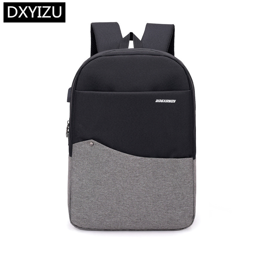 DINGXINYIZU college boys anti-theft school backpack male smart usb charge men travel with luggage belt bookbag