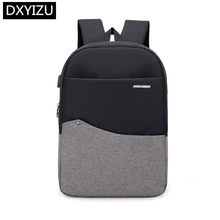 DINGXINYIZU college boys anti-theft school backpack male smart usb charge backpack men travel backpack with luggage belt bookbag(China)