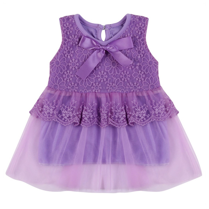 Fashion Princess Dresses Toddler Girls Casual Clothes Cotton Kids Bow Lace Ball Gown Kids Clothing