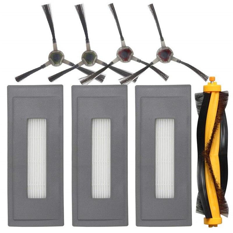 Ev Aletleri'ten Elektrikli Süpürge parçaları'de Yedek aksesuarlar için uyumlu Ecovacs Deebot Ozmo 930 robotik süpürge  1 ana fırça 3 yüksek verimli