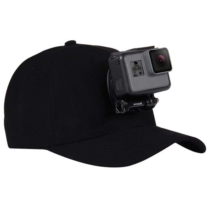 For Go Pro Accessories Outdoor Sun Hat Topi Baseball Cap With Holder Mount For GoPro HERO5 HERO4 Session HERO 5 4 3 2 1 Black