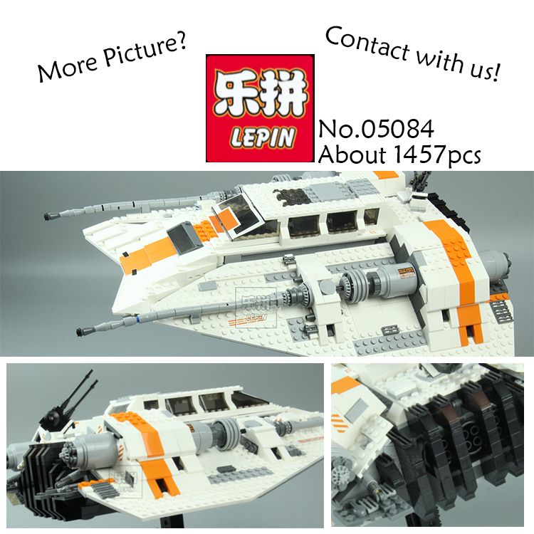 Lepin 05084 1457Pcs Star War Series The Rebel Snowspeeder Set Educational Building Blocks Bricks Toy for children Gifts 10129 star space war series the rebel snowspeeder set educational building blocks bricks boy toys model gifts compatible lepins 10129