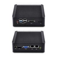 Dual LAN Mini PC Q180S S02 Celeron J1800 Процессор, X86, dc 12 В, без вентилятора pfsense коробка Поддержка Win OS/Linux Systerm Алюминиевый сплав случае