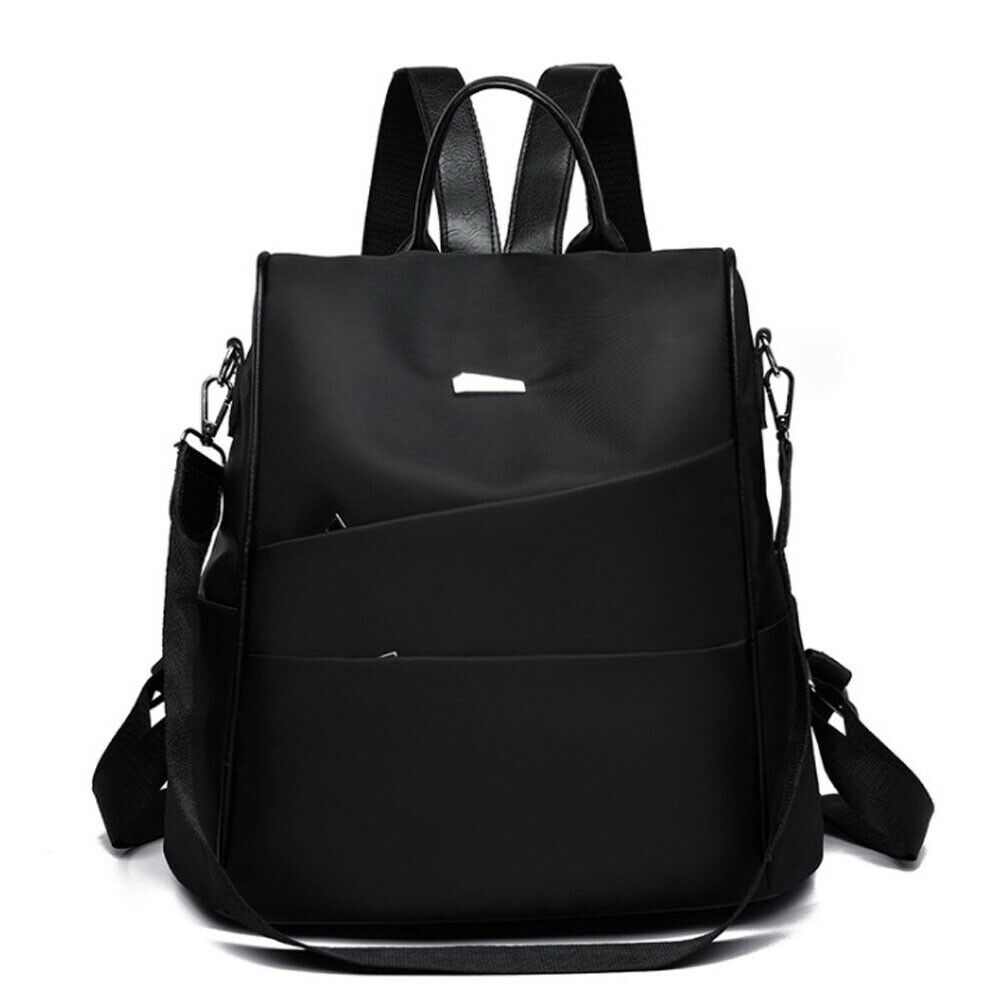 Female Anti-theft Backpack Fashion Solid Color Multi-function Large Capacity Solid Color Canta School Bag Shoulder Bag