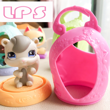 FGHGF LPS Pet shop Dog Cat Squirrel with Sofa bed Aaccessories Collection Rare Figure Collie Animals Loose Cute Kid Toys 22801