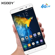 XGODY 4G LTE Smartphone 6 Inch Fingerprint Android 7.0 2GB RAM 16GB ROM MTK6737 Quad Core 13MP GPS WiFi Mobile Phone Cellphone