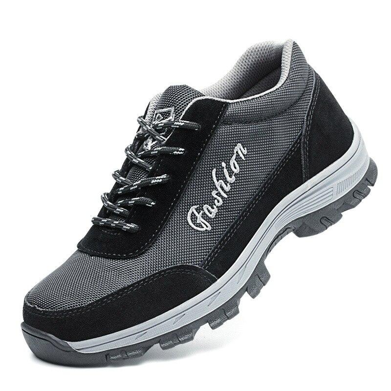 punção Respirável Botas Anti Aço Homens De Dos Sapato Segurança Trabalhador Tamanho deslizamento Biqueira Trabalho Proteção Calçados Casuais Grande Não T1PI7