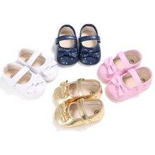 Meninas do bebê Da Princesa Shoes Primeiro Walkers Arco Doce Anti-slip Mary Jane Infantil Criança Berço Crianças Bebe Sapatos Calçado