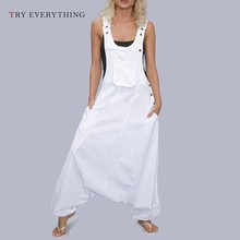Summer Overalls For Women Black Rompers Womens Jumpsuit Plus Size White Trousers Female 3XL 4XL 5XL