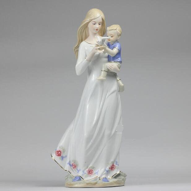 Personnages en céramique européens ornements cadeaux de mariage pour envoyer des ornements d'enfant artisanat cadeaux de fête des mères cadeaux de mariage 05112 - 6
