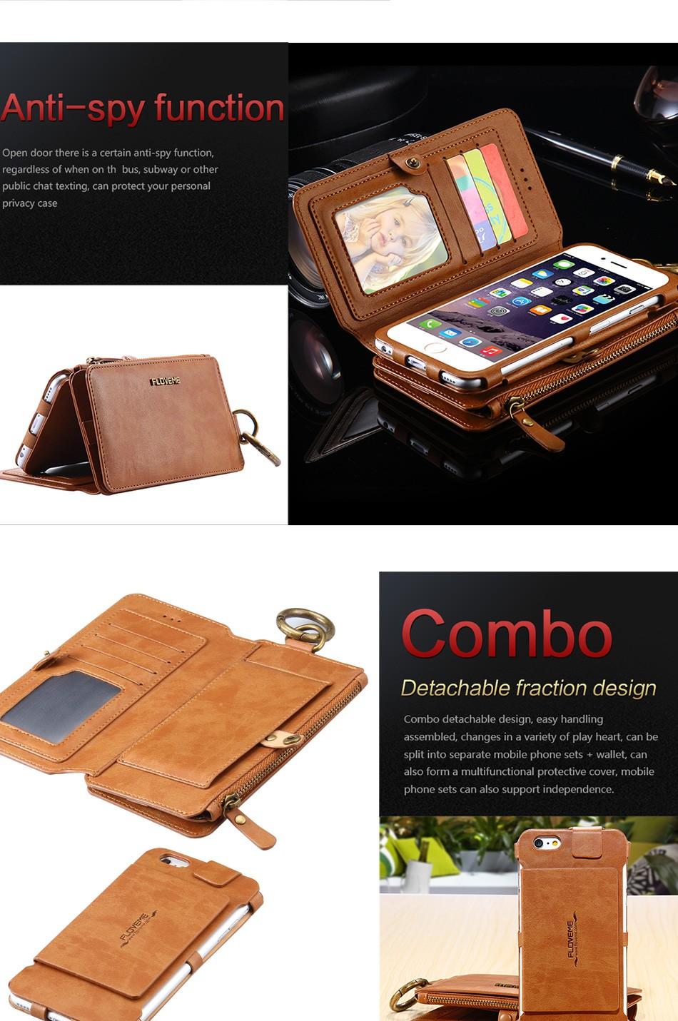 Floveme oryginalny retro skóra telefon case for iphone 6s 6 4.7 dla iphone6s iphone 6s przypadki metalowy pierścień coque pokrowce na iphone 7 6