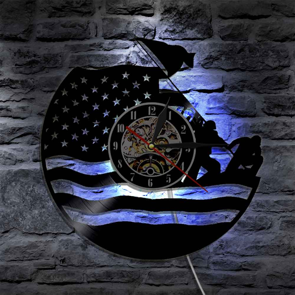 1Piece U.S. Marine Silhouette LED Light Soldier Color Changing Wall Light With Remote Controller Home Decor