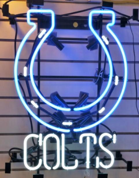 Custom Colts Glass Neon Light Sign Beer Bar