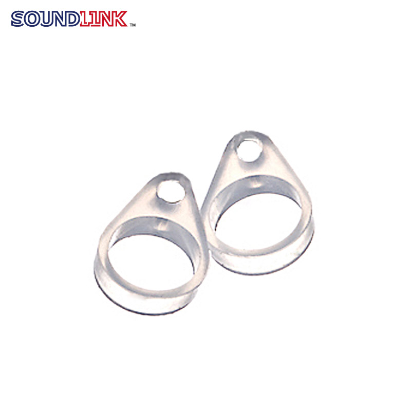 ФОТО Free Shipping (100pcs lot)  BTE Hearing Aids Component Transparent Clip Adaptors Loops