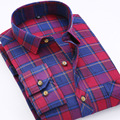 Autumn And Winter New Mens Long Sleeve Shirt Men's Casual Plaid Cotton Shirt