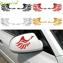 CARPRIE Dependable Fashion Wing Design 3D Decoration Sticker For Car Side Mirror Rearviewe 2018 HOT NEW Oct6(China)