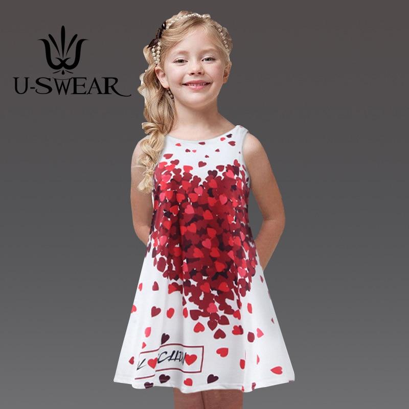 U-SWEAR 2019 New Arrival Kid   Flower     Girl     Dress   O-neck Sleeveless A-line Petal Letter Print Pageant   Dresses   For   Girls   Vestidos